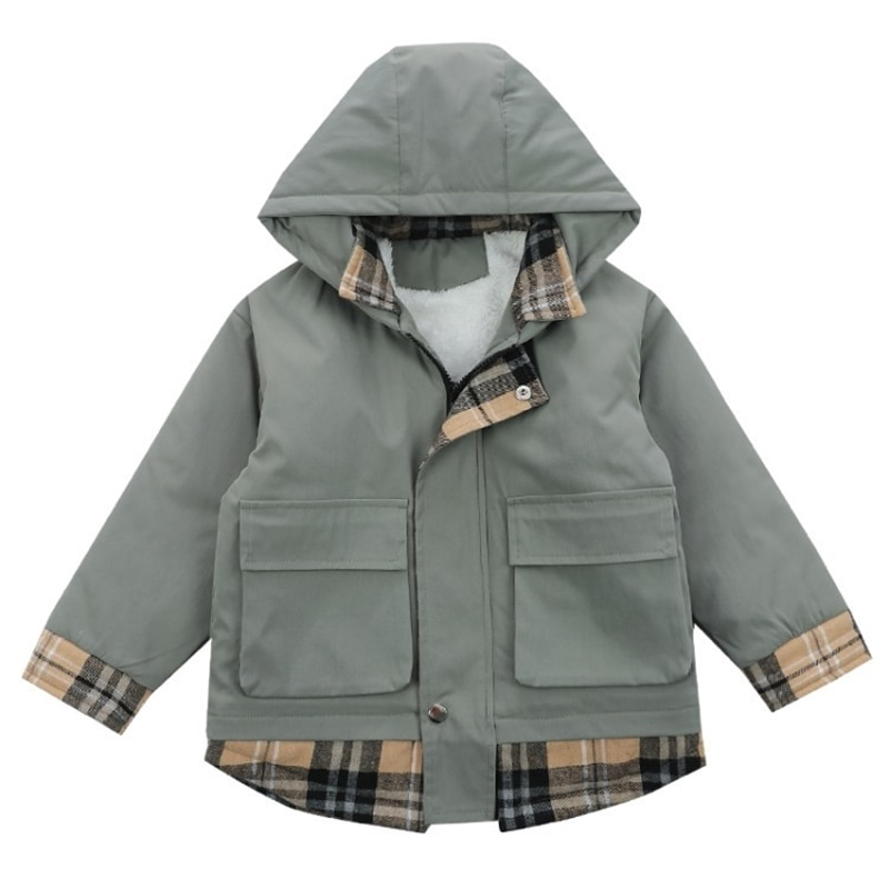 Boys' fleece-lined jacket autumn and winter new children's clothing medium and large children's Korean style winter clothes enlarge