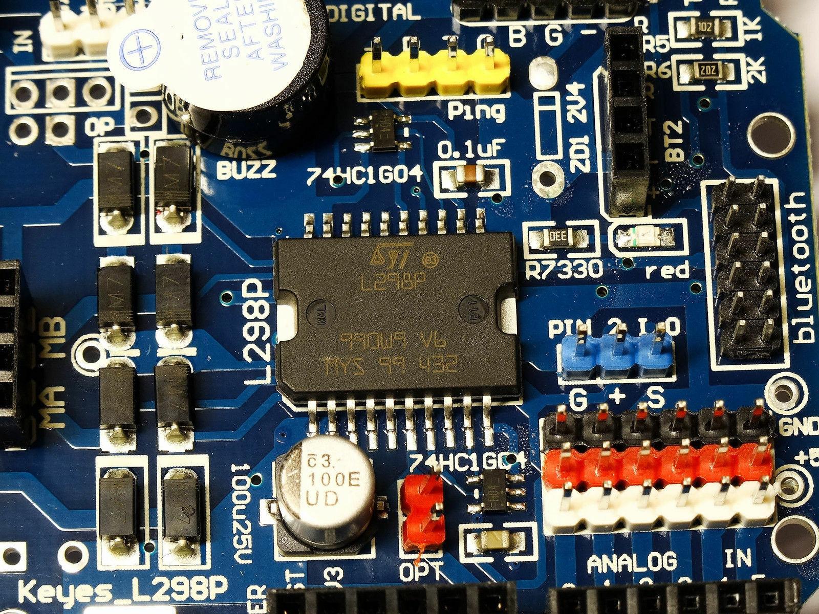واقي محرك مزدوج H-Bridge L298P L298 ، 2x H-Bridge لـ Arduino