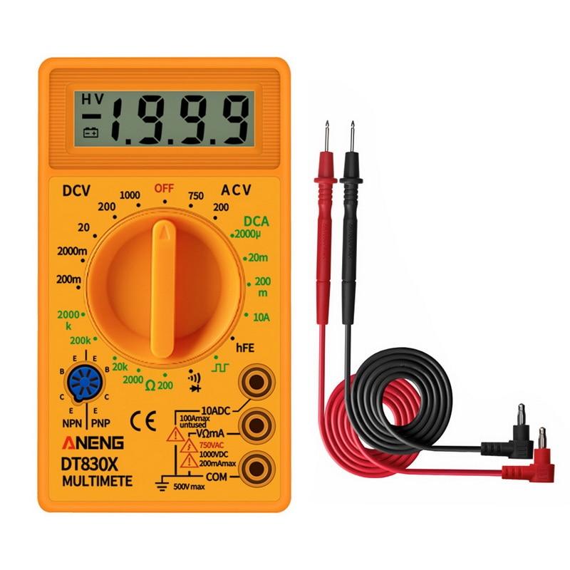LCD Digital-830B Gelb Voltmeter Amperemeter Ohmmeter Multimeter Handheld Tester DT830B AC DC hause tester