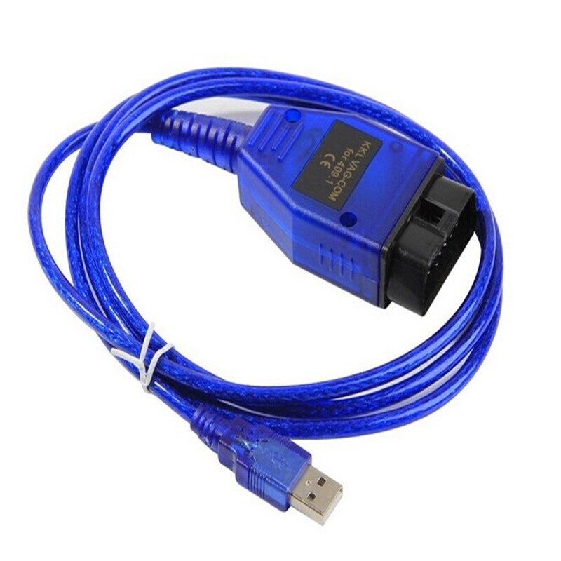 Pour VAG--COM KKL 409 USB FTDI OBD2 KKL409 Scanner de Diagnostic pour VAG-série voiture V-W/a-udi/s-eat câble de Diagnostic KKL 409-câble