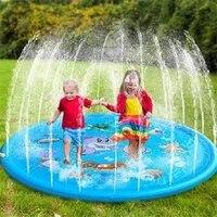 baby water mat kids sprinkler pad mat children summer outdoor water splash play mat lawn inflatable sprinkler cushion toy