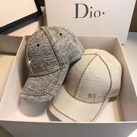 autumn new small fragrance hat women summer diamond studded baseball cap fashion wild outdoor sun shade rhinestone cap