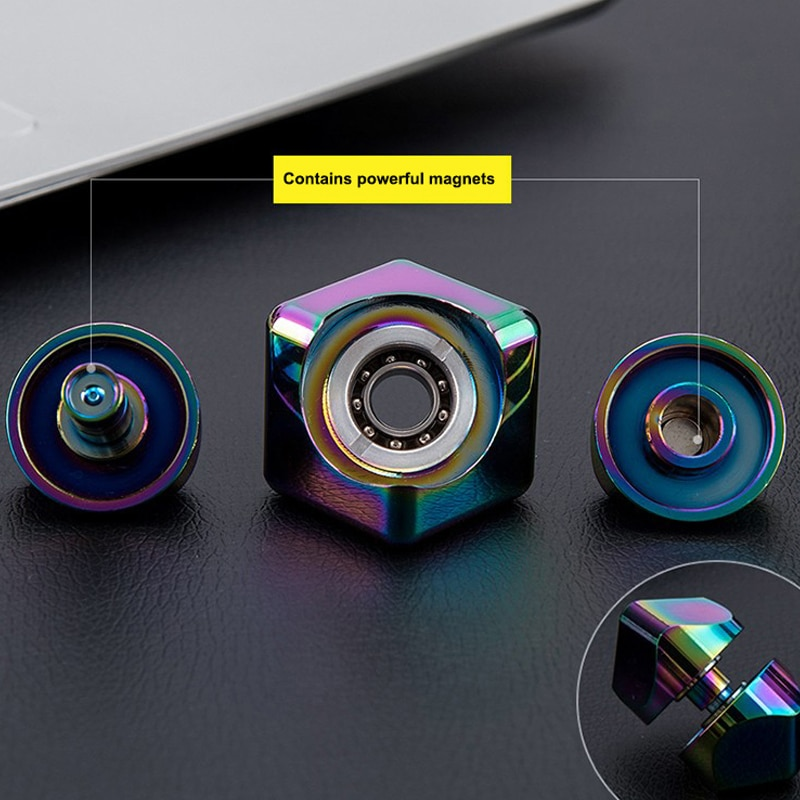 Colorful Spinning Fidget Spinner Stress Relief Toys Metal Hand Spinner Silent Top Finger Spinner Anxiety And Atress Relief enlarge