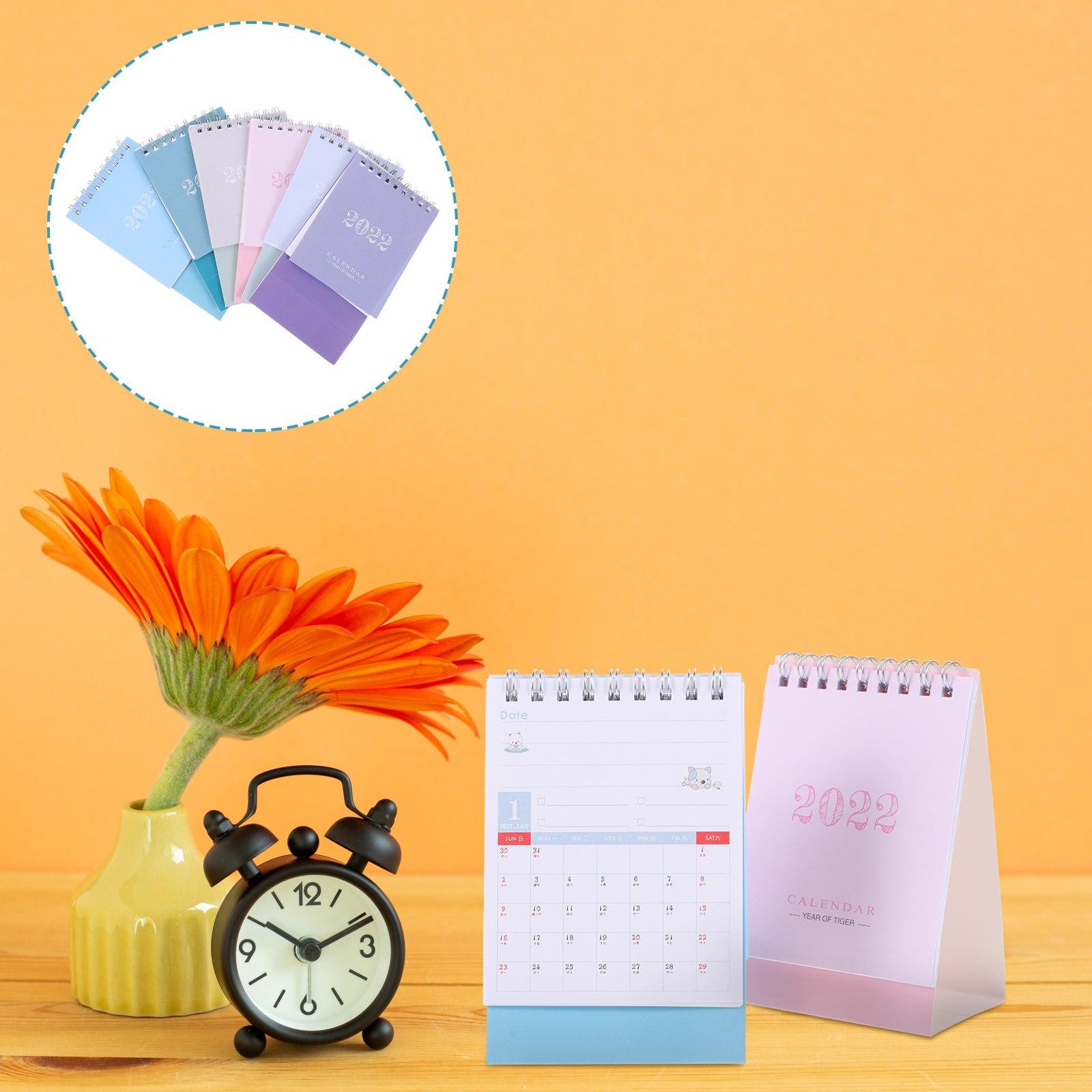 6 шт. бумажных календарей 2022, креативные бумажные настольные календари (разные цвета)