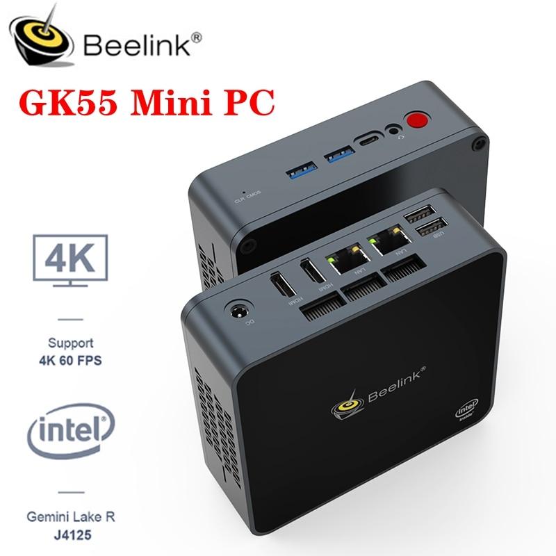Beelink GK55 Mini PC Computer Windows 10 Intel Gemini Lake R J4125 Quad Core 8GB 128/256GB 5.8G Wifi bluetooth 4.0 4K 60@fps