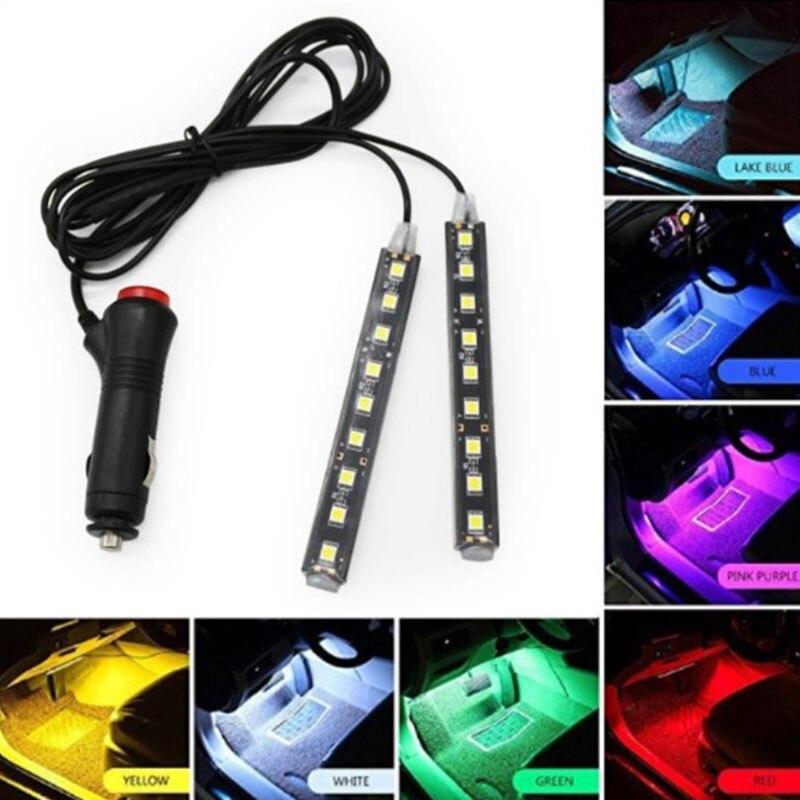 Automotive atmosphere lights colorful LED interior lighting belt