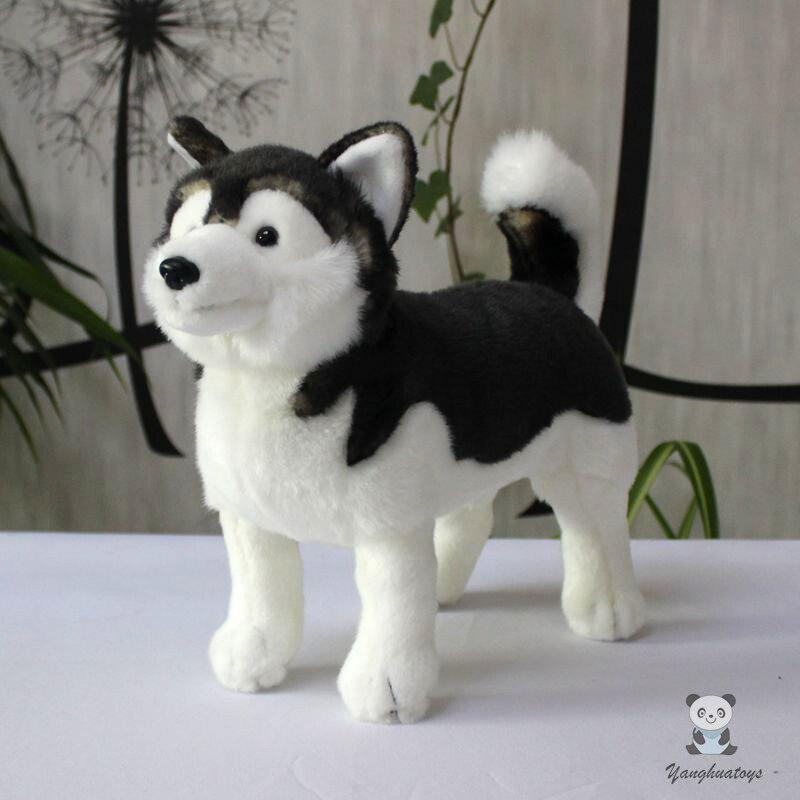 Soft stuffed plush animals toy dogs dolls nice Alaska dolls kids toys birthday gifts girlfriend good quality