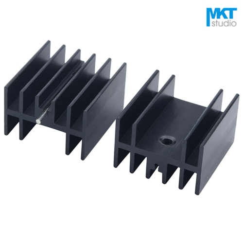 10Pcs Black 25*23*16mm Aluminum Cooling Fin Radiator Heat Sink For TO-220 TO220 ICs