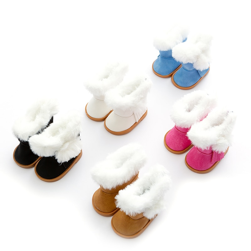 Doll accessories warm shoes fit for baby 43cm Doll  Children best  Birthday Gift