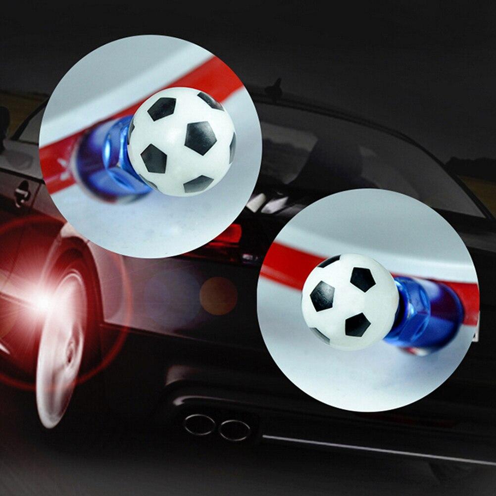 4 Uds./Park Universal fútbol diseño coche camión motocicleta rueda neumático tapas de válvula a prueba de polvo