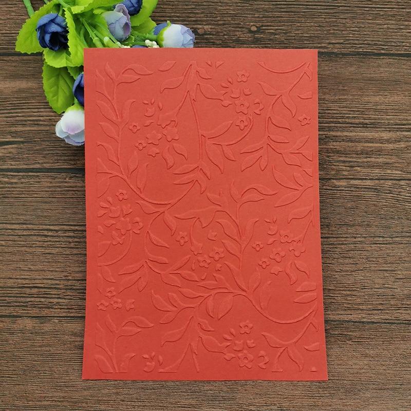 AOKEDIY Leaf DIY Plastic Embossing Folders for DIY Scrapbooking Paper Craft/Card Making Decoration Supplies