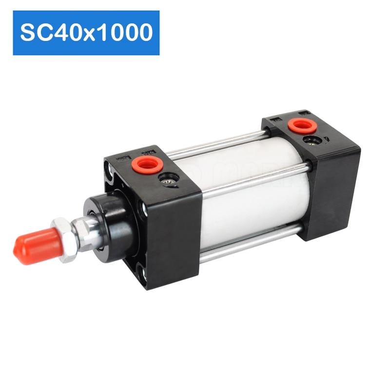 Barato SC40X1000 diámetro 40mm carrera 1000mm cilindro magnético de aluminio cilindro de aire neumático cilindro SC
