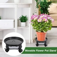 flower pot rack plant caddy plant saucer pot with wheels movable plant stand planter base for garden