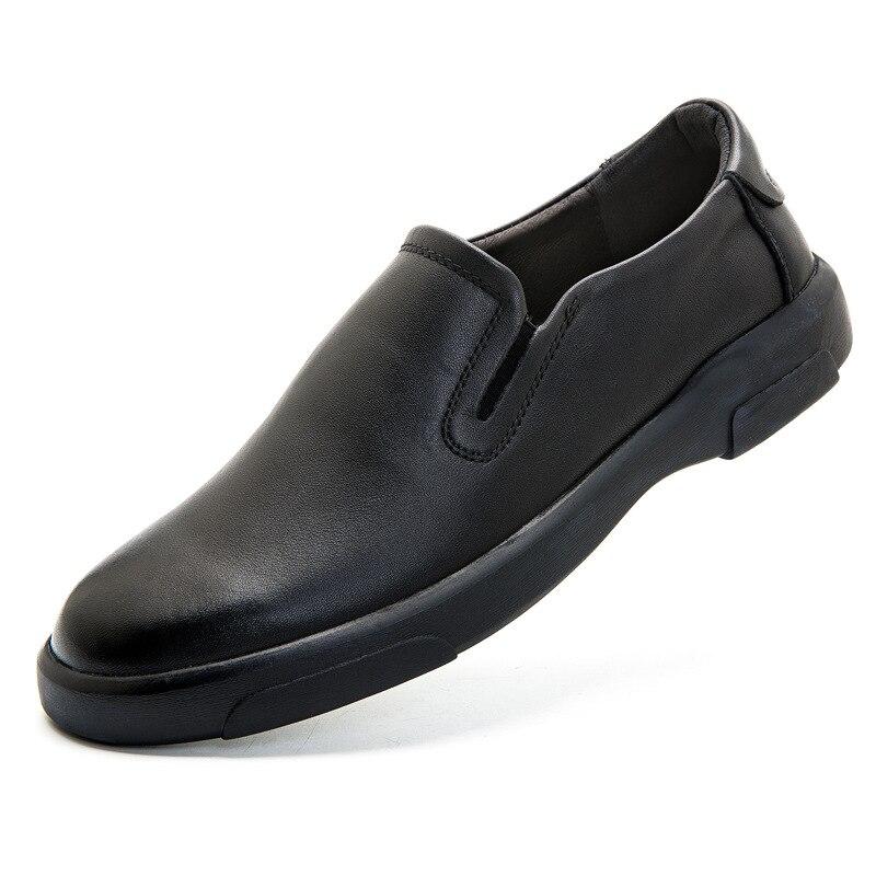 حذاء موكاسين من الجلد الطبيعي للرجال ، حذاء كاجوال مسامي مع أربطة بمقدمة مستديرة ، مقاس كبير 47 48 ، حذاء موكاسين مقاوم للاهتراء