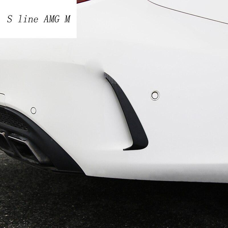 Car styling Carbon fiber Rear Side Mirror body Fog light Sticker Cover Trim For Mercedes Benz C Class W205 C180 C200 Accessories