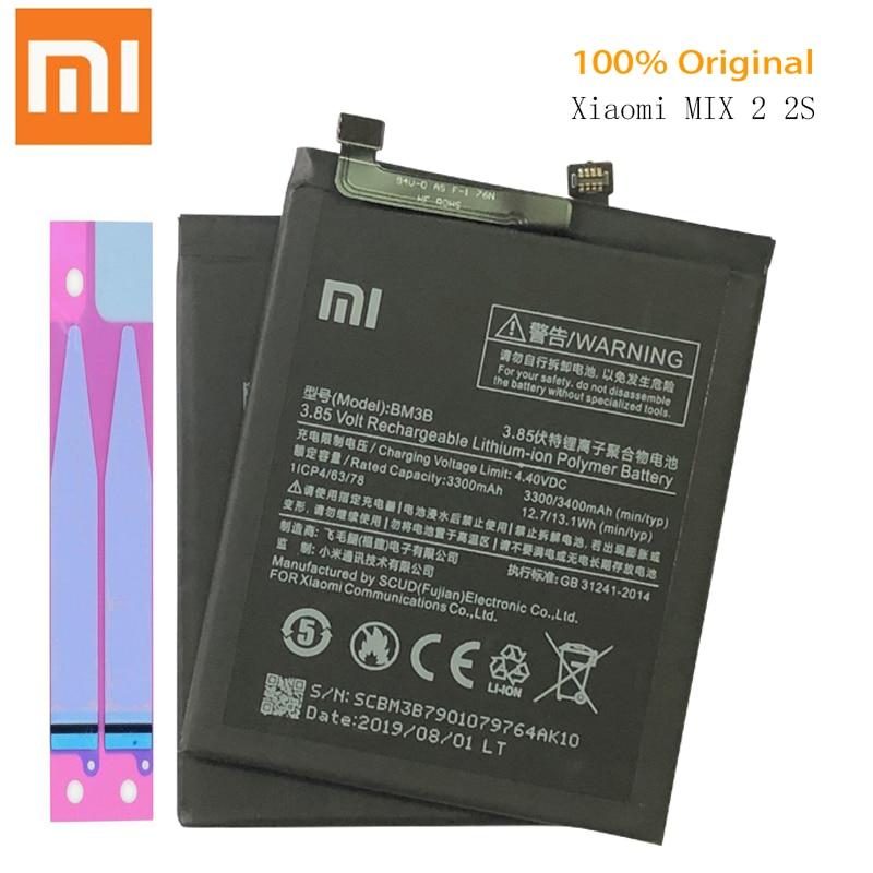 Batería Original para XIAOMI Mi Mix 2 Mix2 batería BM3B 3400mAh reemplazo de capacidad completa