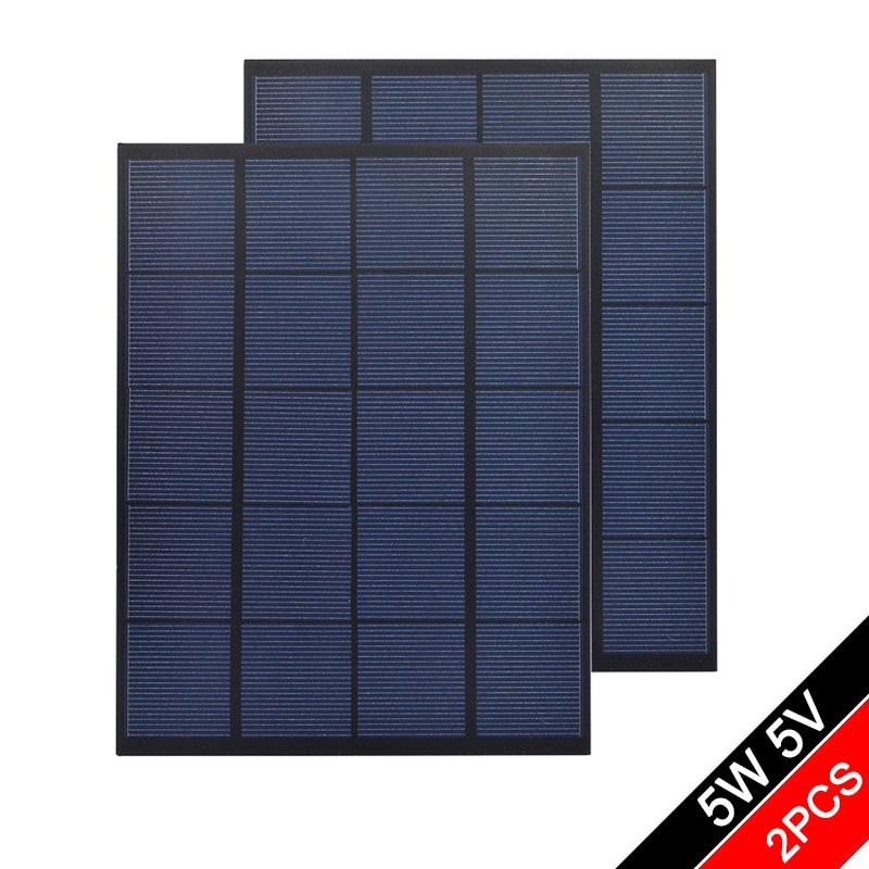 5V 6V 12V 18V 5Watt 5W Solar Panel Cell PET Polycrystalline Silicon DIY Battery Power Charge Module Mini Toy - 2PCS