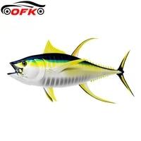 fish car sticker tunas 3d graphic window bumper diy waterproof auto motorcycles styling body vinyl decal15cm8cm
