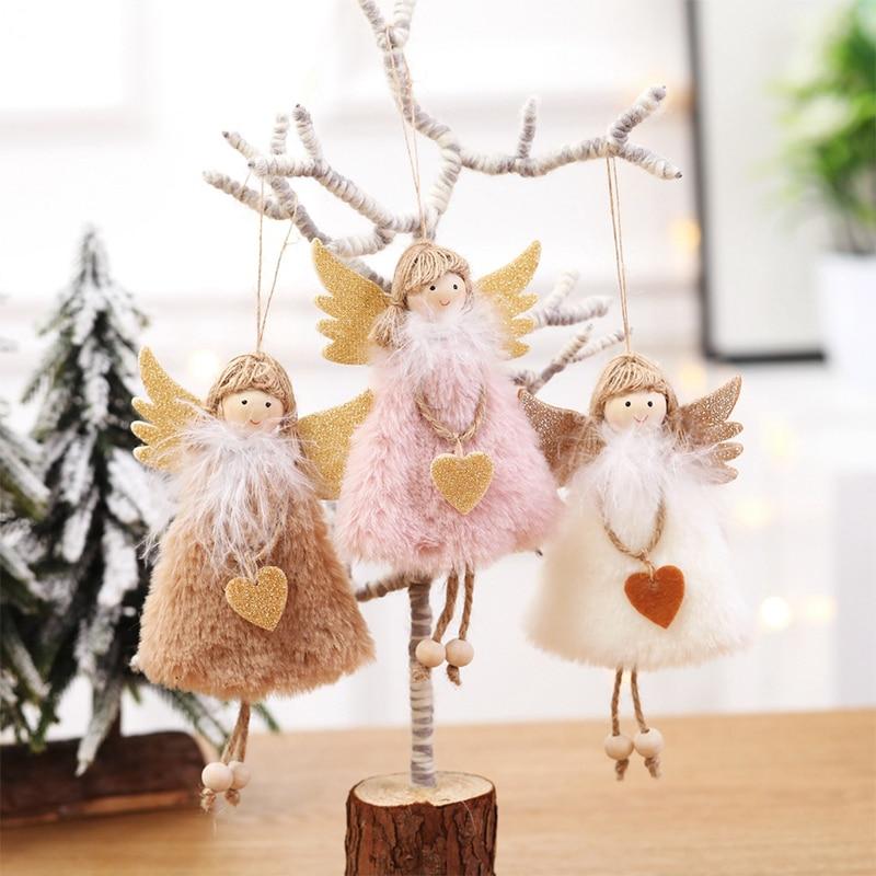 Yomdid Navidad Ángel niña muñecos de peluche Kawaii juguete árbol de Navidad colgante Noel decoración de Navidad para el hogar niños Kawaii regalo