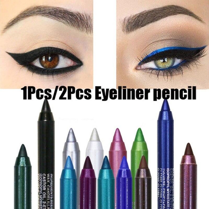 Color delineador mate bolígrafo colores maquillaje de ojos brillo delineador larga duración Sexy Color bonito ojo forro impermeable TSLM2