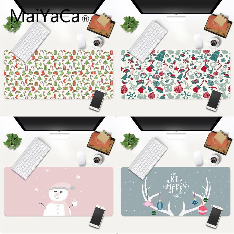 MaiYaCa Christmas Pattern Cartoon mouse pad gamer play mats Gaming Mouse Pad gamer Large Deak Mat 600x300mm for overwatch/cs go maiyaca 2018 new persian rugs mouse pad gamer play mats size for 180x220x2mm and 250x290x2mm small mousepad
