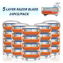 Shaving Razor Blades For Gillette Fusion 5 Holder Replacement Heads Face Shaver Cassettes 5 Layers S