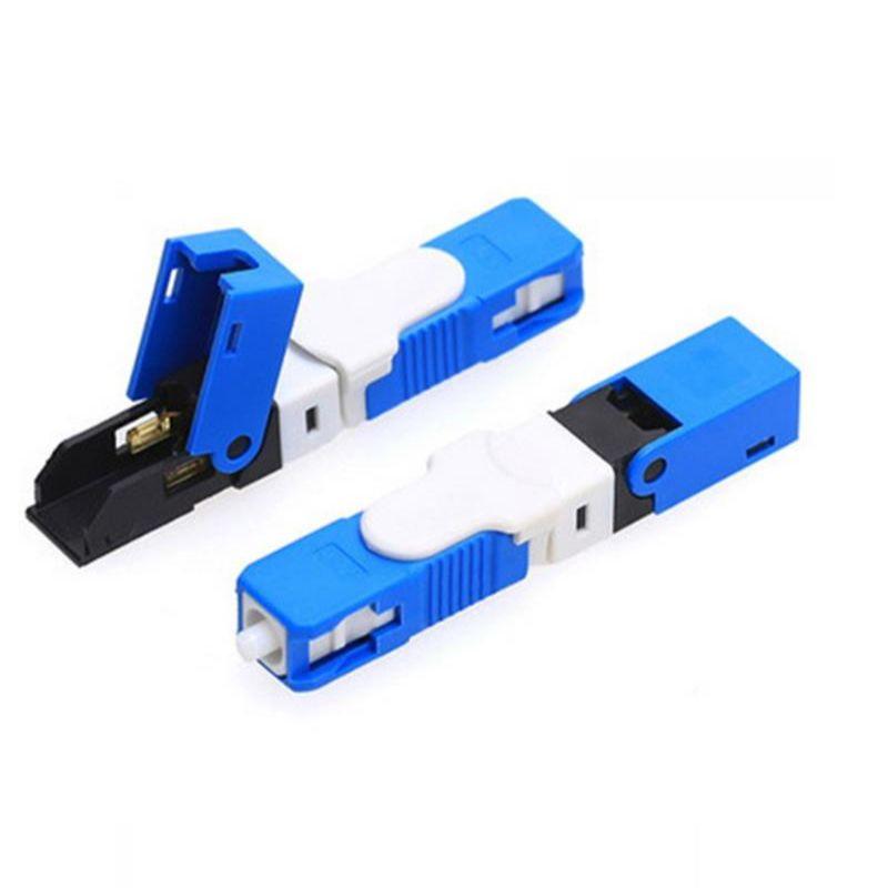(Ready Stock) ESC250D 300pcs UPC Special Fast Connector, FTTH Fiber Optic High Precision SC/UPC Quick Connector