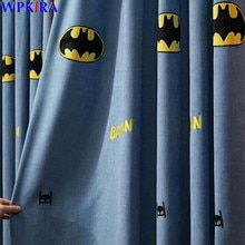 Amérique Super héros Batman brodé rideau pour enfants garçons chambre coton lin fenêtre rideaux enfants rideau occultant AD073D3