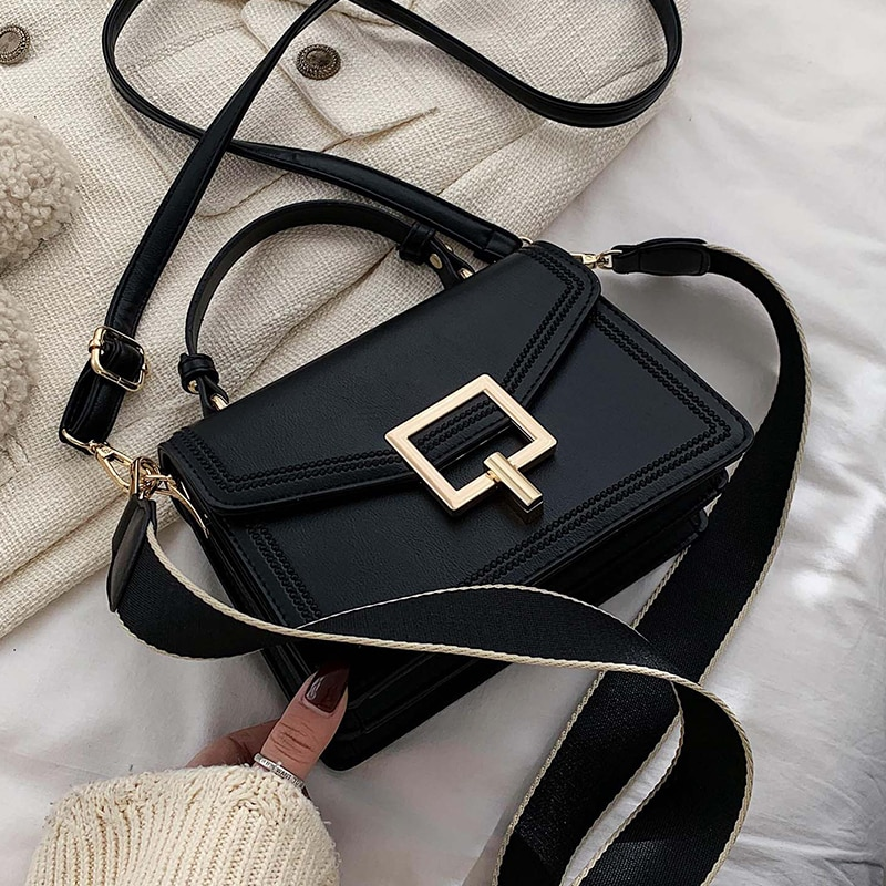 Retro Fashion Female Tote bag 2020 New High Quality PU Leather Women's Designer Handbag Lock Travel Shoulder Messenger Bag