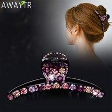 Pinzas para el pelo de cristal para mujer, pasadores brillantes de colores, pinza para el pelo de alta calidad, horquillas con diamantes de imitación, accesorios para el cabello