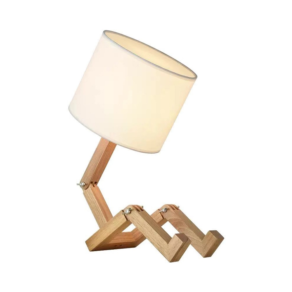 Lámparas de Mesa ajustables modernas luces con forma de Robot, Lámpara decorativa...