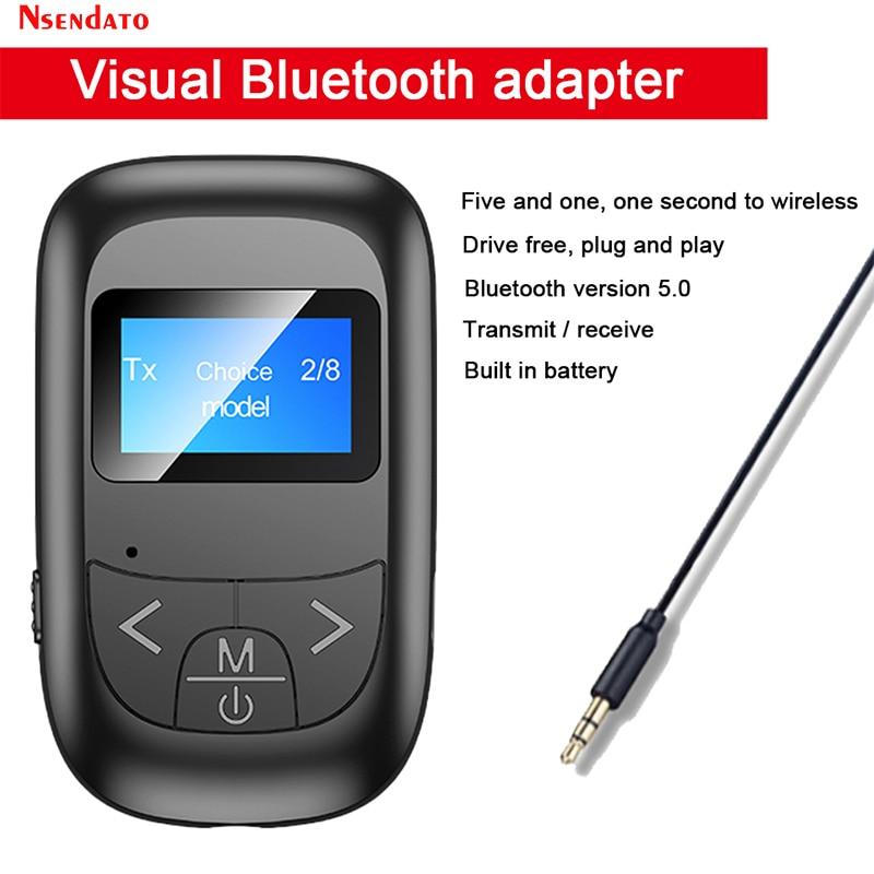 Adaptador de pantalla LED Bluetooth 5,0, transmisor de Audio y música, receptor...