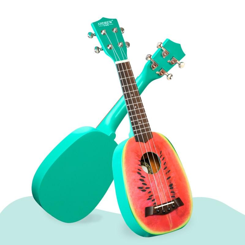 Baritone Ukulele Fruta Original Green Set Wood Small Guitar Sports Children Accessories Summer Guitarra Entertainment ZZ50YL enlarge
