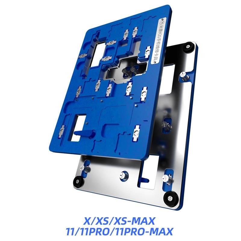 Mijing K31 para iPhone X/XS MAX/11/11Pro/11 Pro Max, reparación de teléfono móvil, accesorios de múltiples placas base, reparación de desgomado de copa