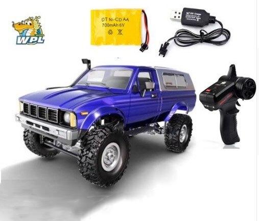 WPL C24, coche a Control remoto para coche, coche a Control remoto 2,4G RC Crawler todoterreno, Buggy, máquina móvil 116 4WD niños, coches a batería RTR, regalos