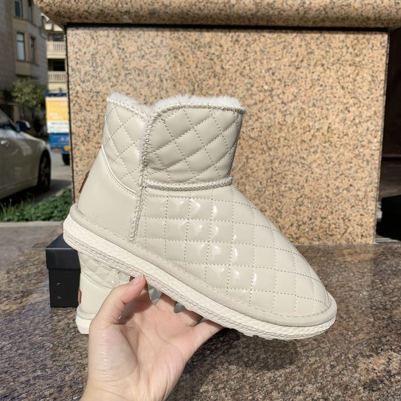 2021 Winter New Women's Snow Boots Women Ankle Boots Ladies Outdoor Set Foot Cotton Shoes Warm Plus