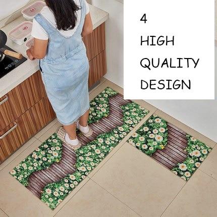 Kitchen Anti-skid And Moistureproof Wetland Mattress Short Wool Absorption and Anti-skid Washable Pattern