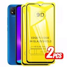 Redmi 9C NFC Glass 2pcs 9D Full Cover Glue Protective Glas For Xiaomi Redmi Note 9S 9 Pro Xiomi Readmi Redme 9A Screen Protector