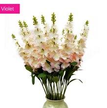 Simulation Violet intérieur en pot jacinthe décoration scène de mariage Delphinium artisanat fleur