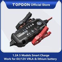 Автомобильное зарядное устройство Topdon T1200, 6 в, 12 В, автоматическое зарядное устройство для свинцово кислотных литиевых аккумуляторов, IP65, автомобильное, мотоциклетное зарядное устройство для аккумуляторов