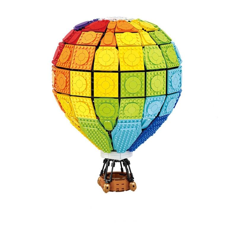 منتج جديد قوس قزح منطاد الهواء الساخن انقر الإبداعية حلم سلسلة الجمعية الجسيمات الصغيرة اللبنات لعب الأطفال هدايا الأطفال