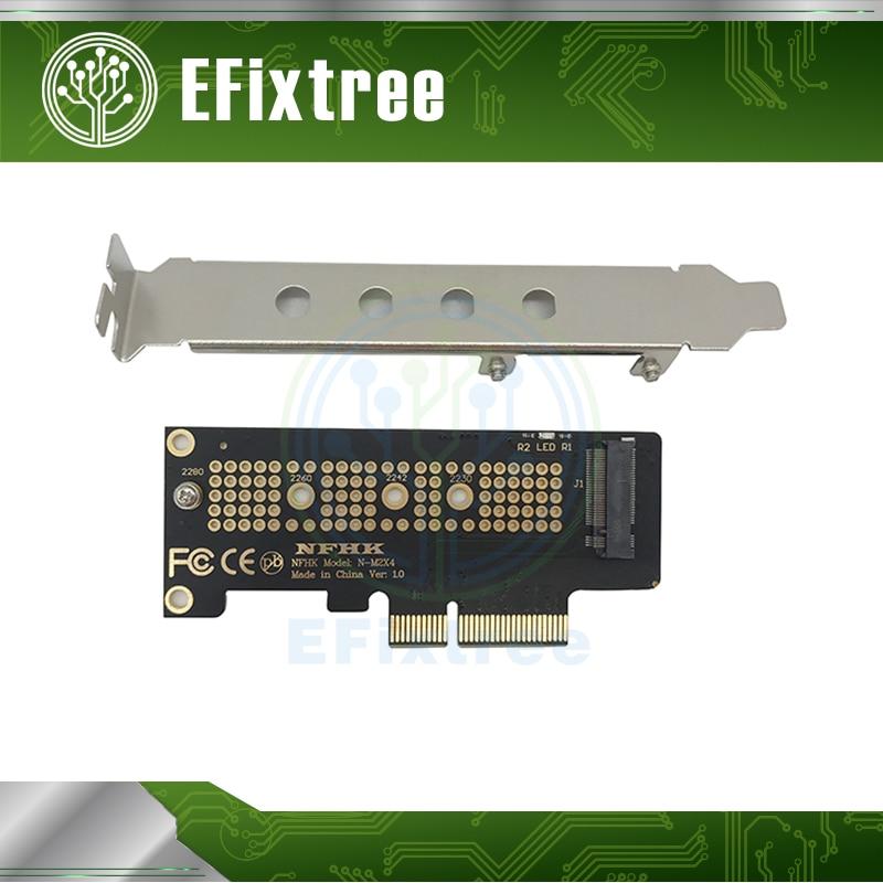 10 pces adaptador pcle m.2 ngff ssd para pcle x 1 cartão com suporte N-M2ZX4 nfhk