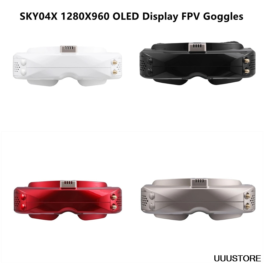 SKYZONE SKY04X 1024x768 5.8Ghz 48CH OLED HD 3D FPV Goggles Diversity with New Rapidmix RX Receiver B