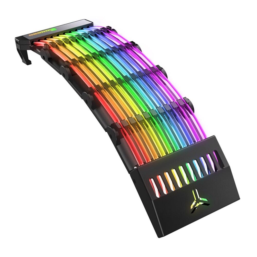 جونسبو RGB تمديد امدادات الطاقة الأكمام كابل 24 دبوس ATX ARGB سيمفونية سلك الطاقة ل إدارة الكبلات