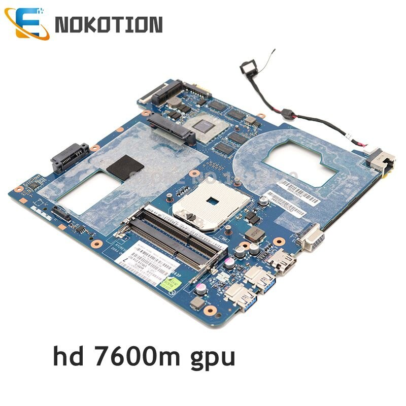 NOKOTION для Samsung NP355 NP355C4C NP355V5C материнская плата для ноутбука LA-8863P QMLE4 BA59-03567A BA59-03567B гнездо fs1 HD 7600M GPU