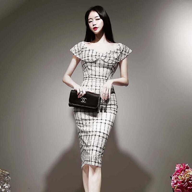 HAYBLST marque robe femmes 2020 été grande taille Club vêtements Sexy Kawaii Vestidos élégant Style coréen paquet fesses vêtements