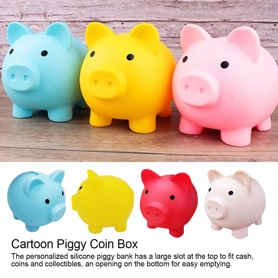 Cute Pig Cartoon Piggy Coin Storage Box Money box Piggy Bank Money Saving Bank Kids Birthday Gift Home Decoration Children Toys