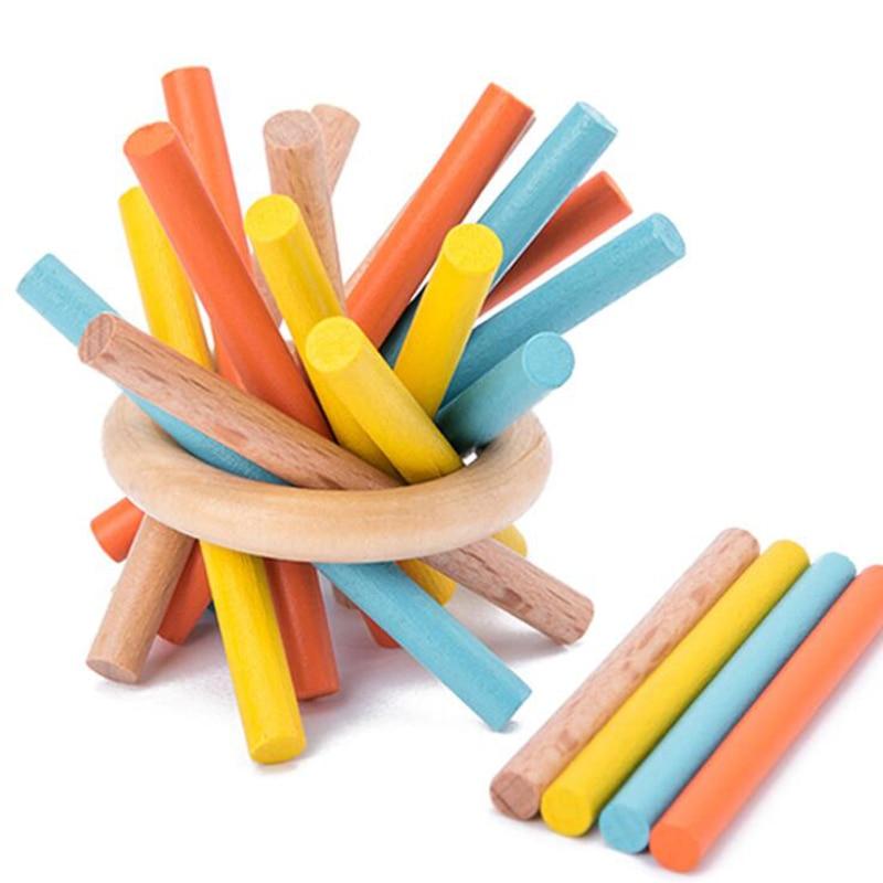 Enfants jouets en bois Portable voyage jouet famille jeux drôles Puzzles en bois jouets éducatifs enfants jeux
