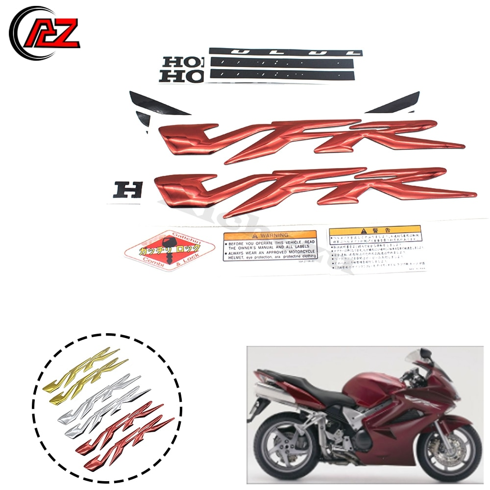 ACZ 3D мотоцикл VFR логотип стикер чехол для HONDA VFR400 VFR800 VFR1200 (VFR) значок