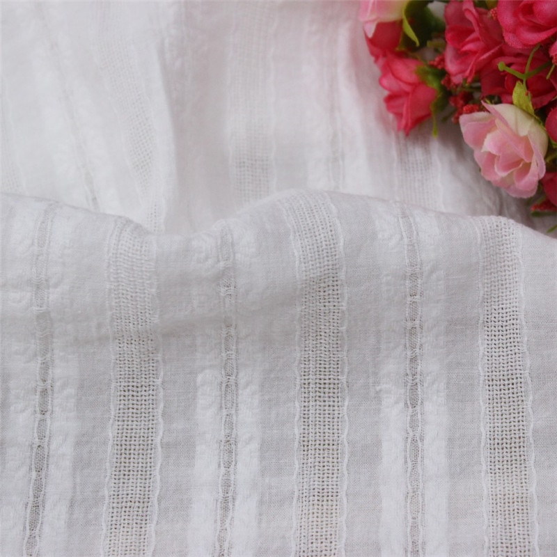 Natural-white Cotton Cloth Hollow-out Embroidery Lace Fabric Handmade DIY Clothes Sewing Accessories Width 150cm 1meter 110cm wide wedding dress lace embroidery diy women clothes materials clothing fabric accessories ivory white church happy hour